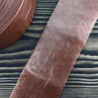 Колагенова оболонка 45 мм. Колір - темний лосось  — фото